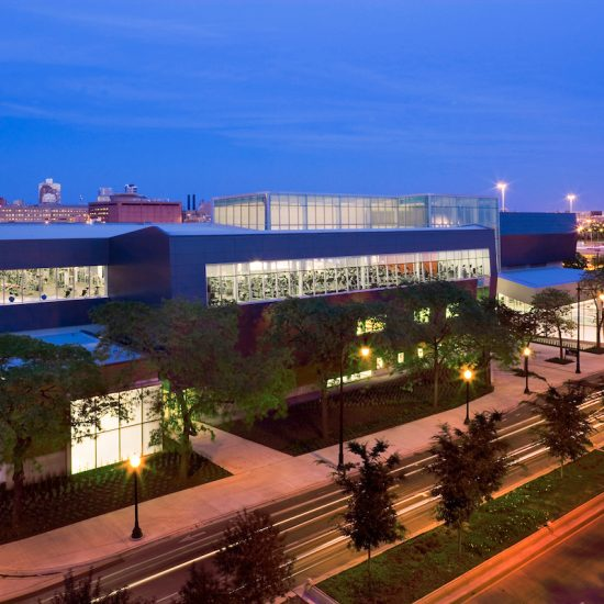 Student Recreation Facility at night